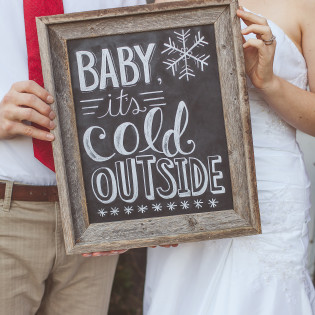 Baby It's Cold Outside Styled Winter Wedding Shoot