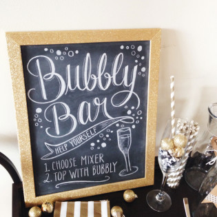 Welcome 2014 +DIY Bubbly Bar