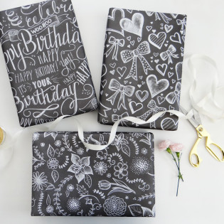 The Making of New Everyday Chalk Art Wrapping Sheets