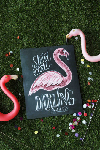 Stand Tall, Darling! Flamingo Print Collab with Where the Styled Things Are