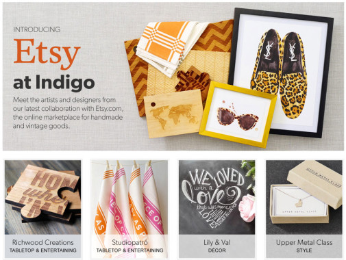 Etsy + Indigo Collaboration