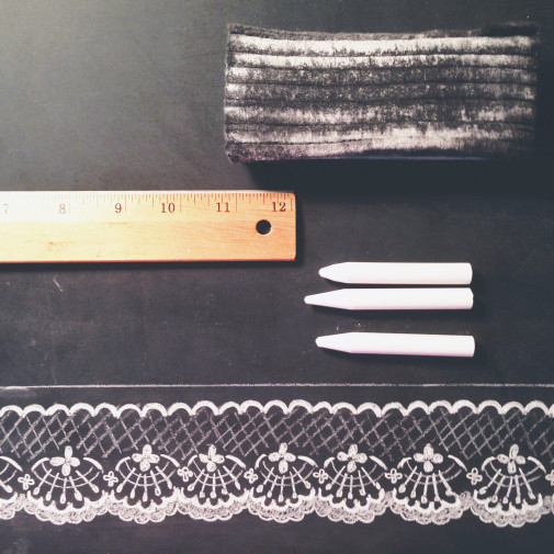 Behind the Scenes: Hand drawn lace print