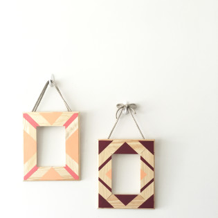 Geometric Painted Picture Frame – Dorm DIY