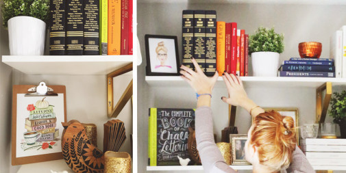 DIY Bookshelf Storage