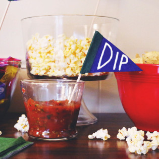 DIY No Sew Football Party Pennant Flags