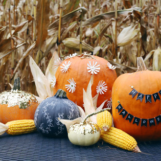 Four New Ways to Decorate a Pumpkin