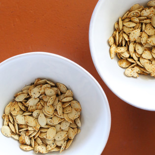 In the Kitchen: Roasted Pumpkin Seeds