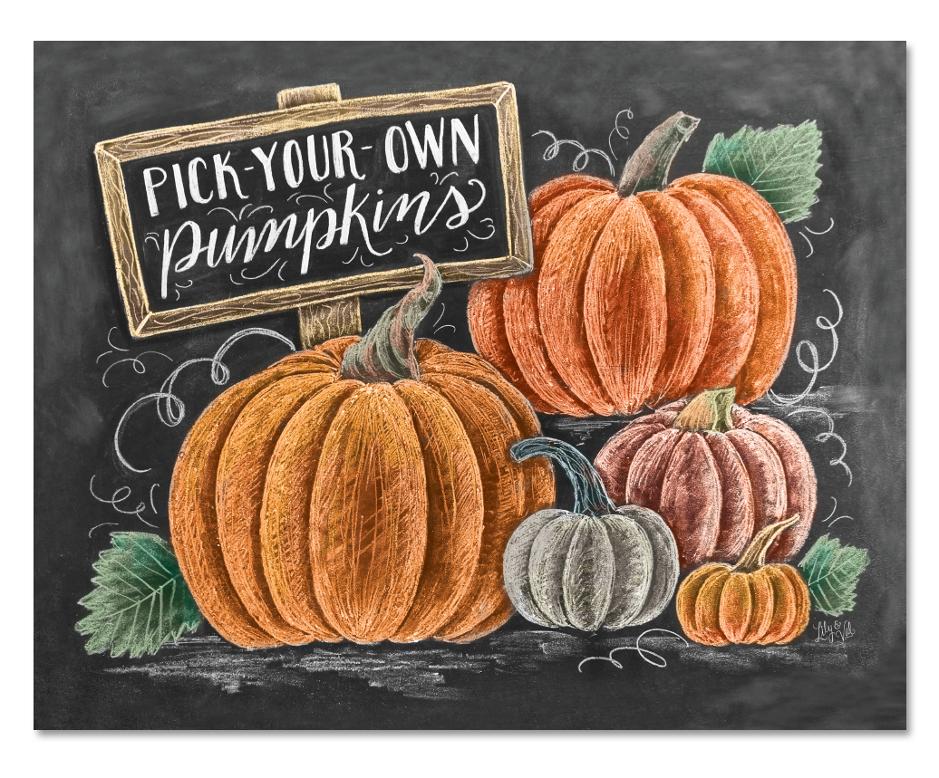 Pumpkin Patch Chalk Art Print | Fall Sign | Fall Decor