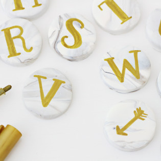 Marble Alphabet Magnets DIY
