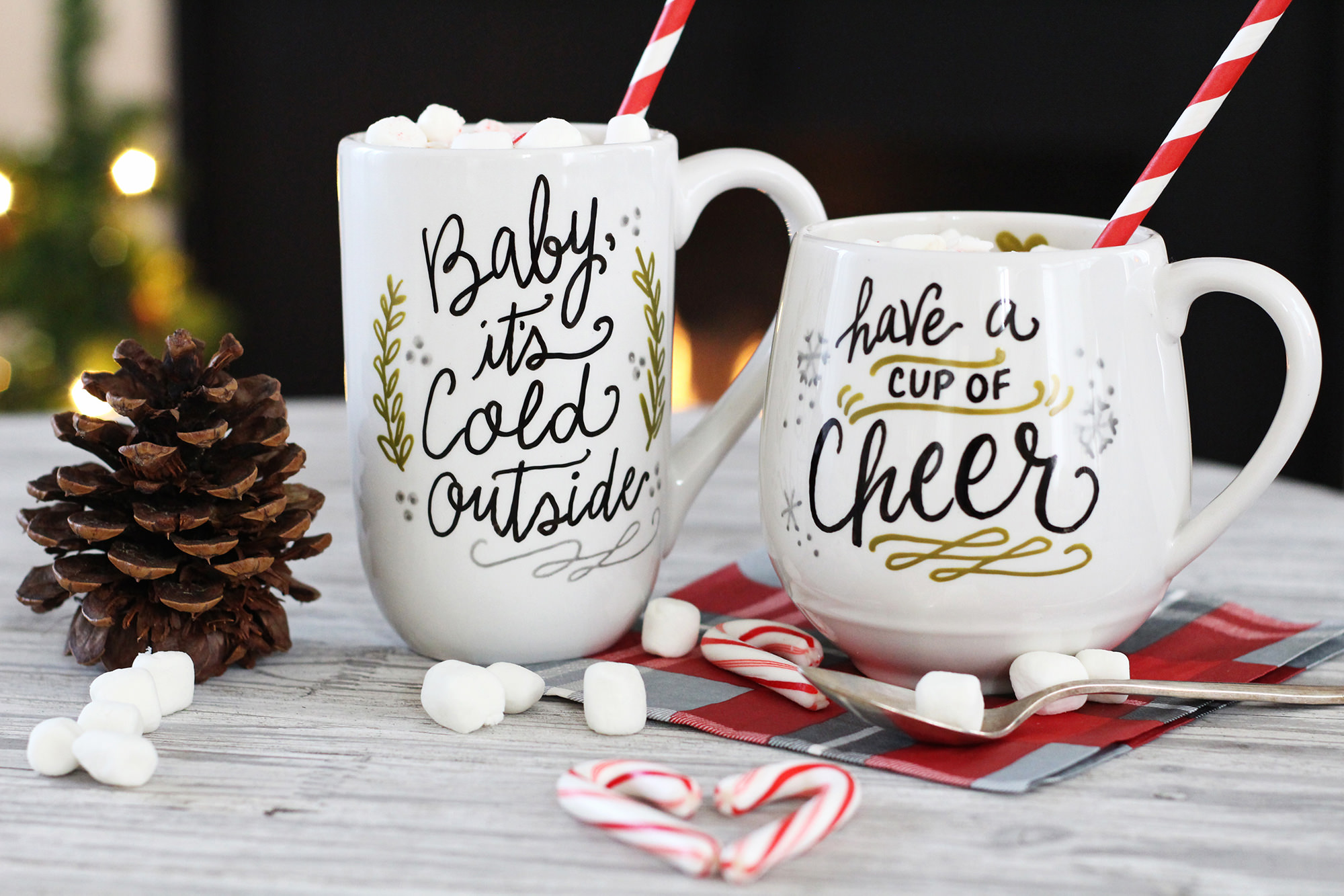 DIY holiday mugs make a perfect gift