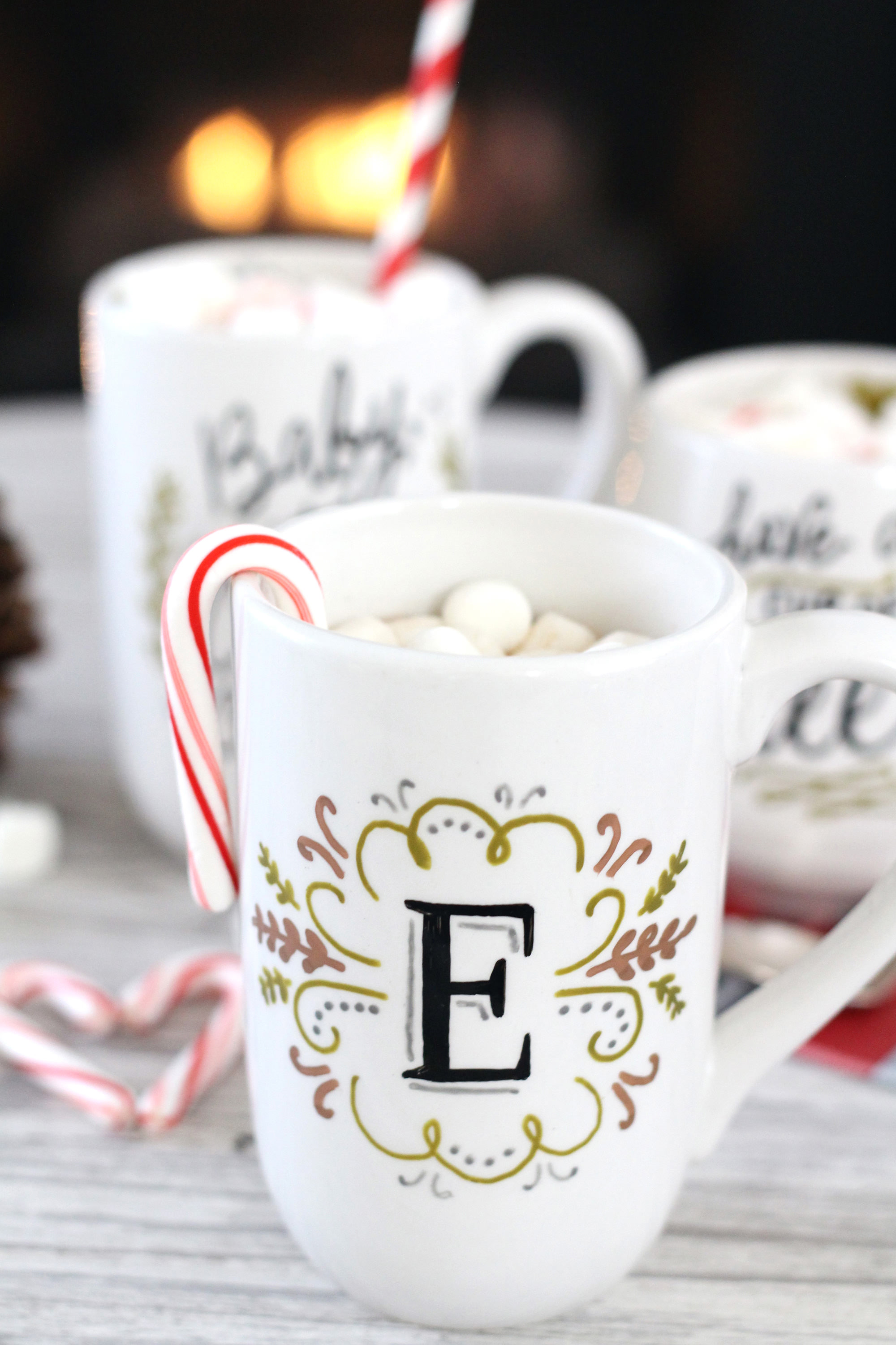 Diy mug gifts using paintedbyme bake at home ceramics for Diy monogram gifts