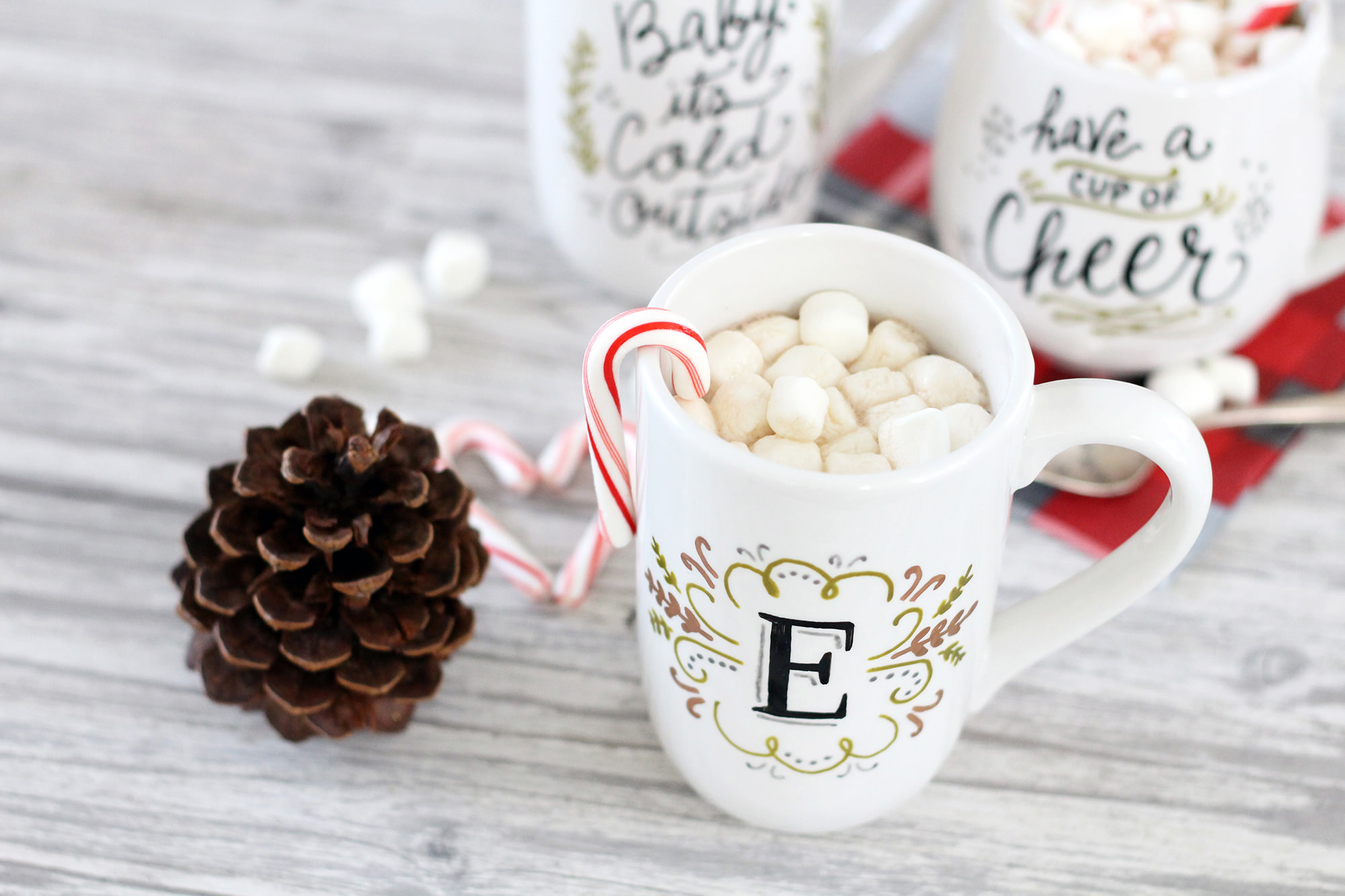 DIY monogram mug gift using PaintedByMe markers