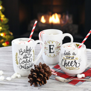 DIY Mug Gifts Using PaintedByMe Bake At Home Ceramics