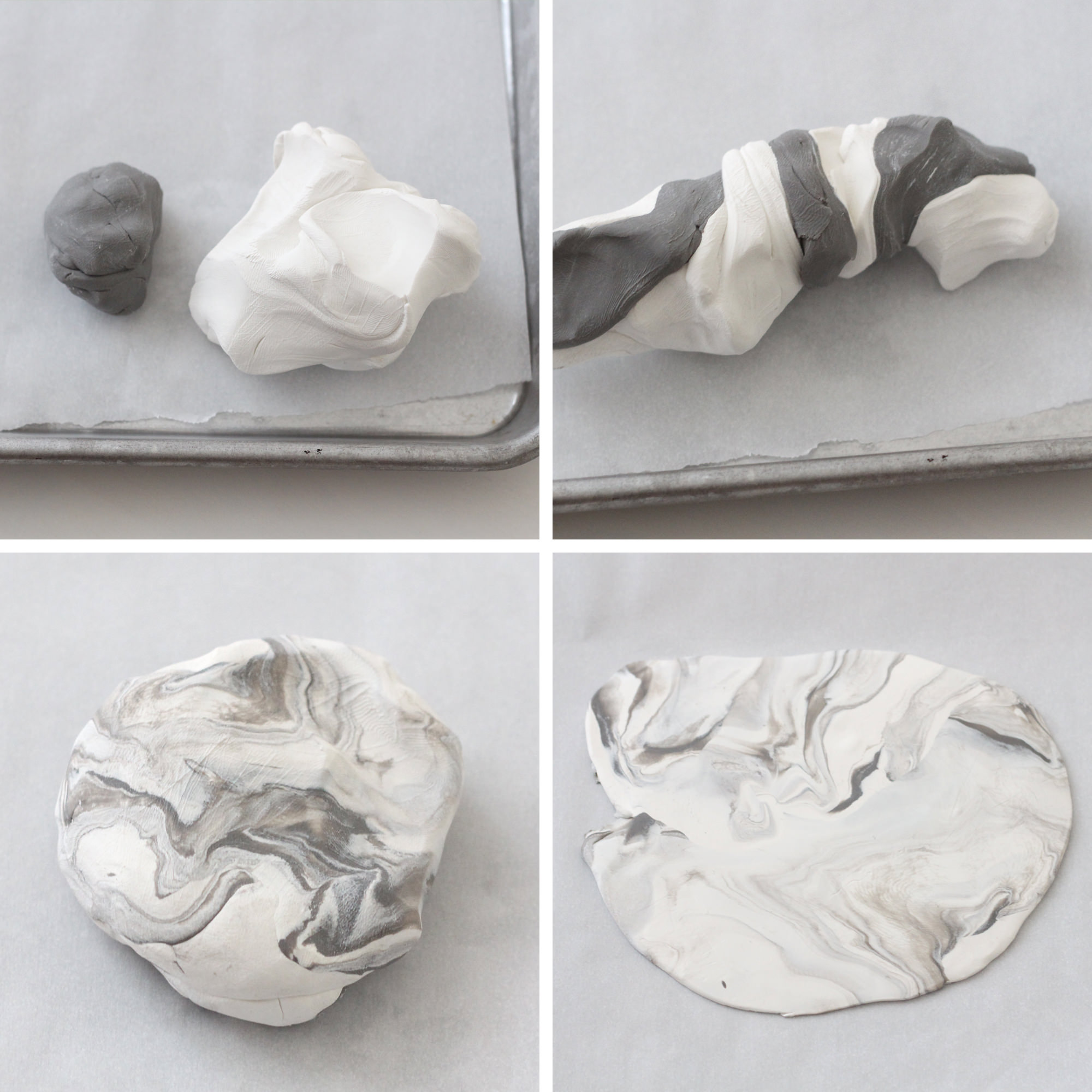Step-by-Step creating marble magnets out of Sculpey Clay