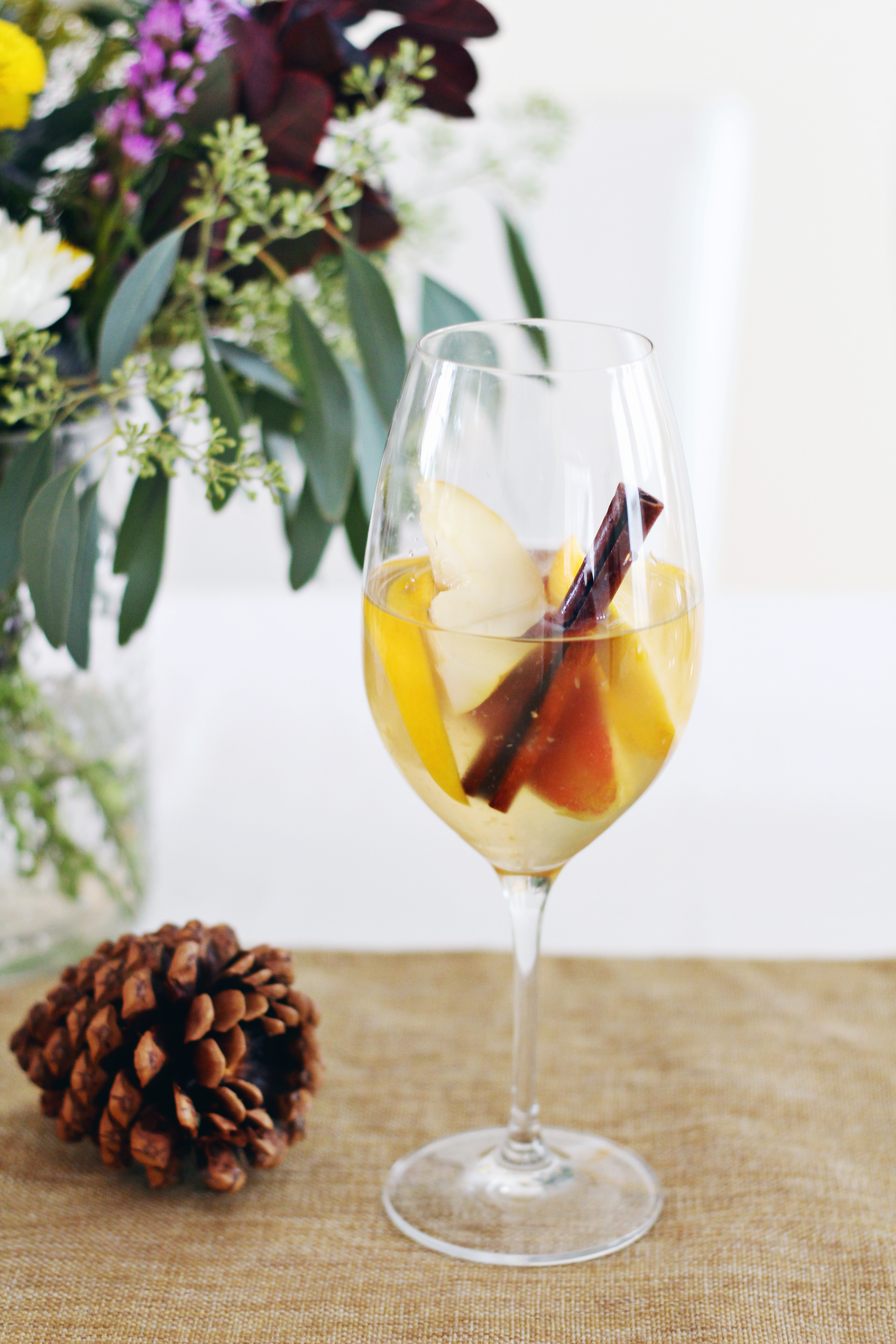 Spiced White Fall Sangria Recipe