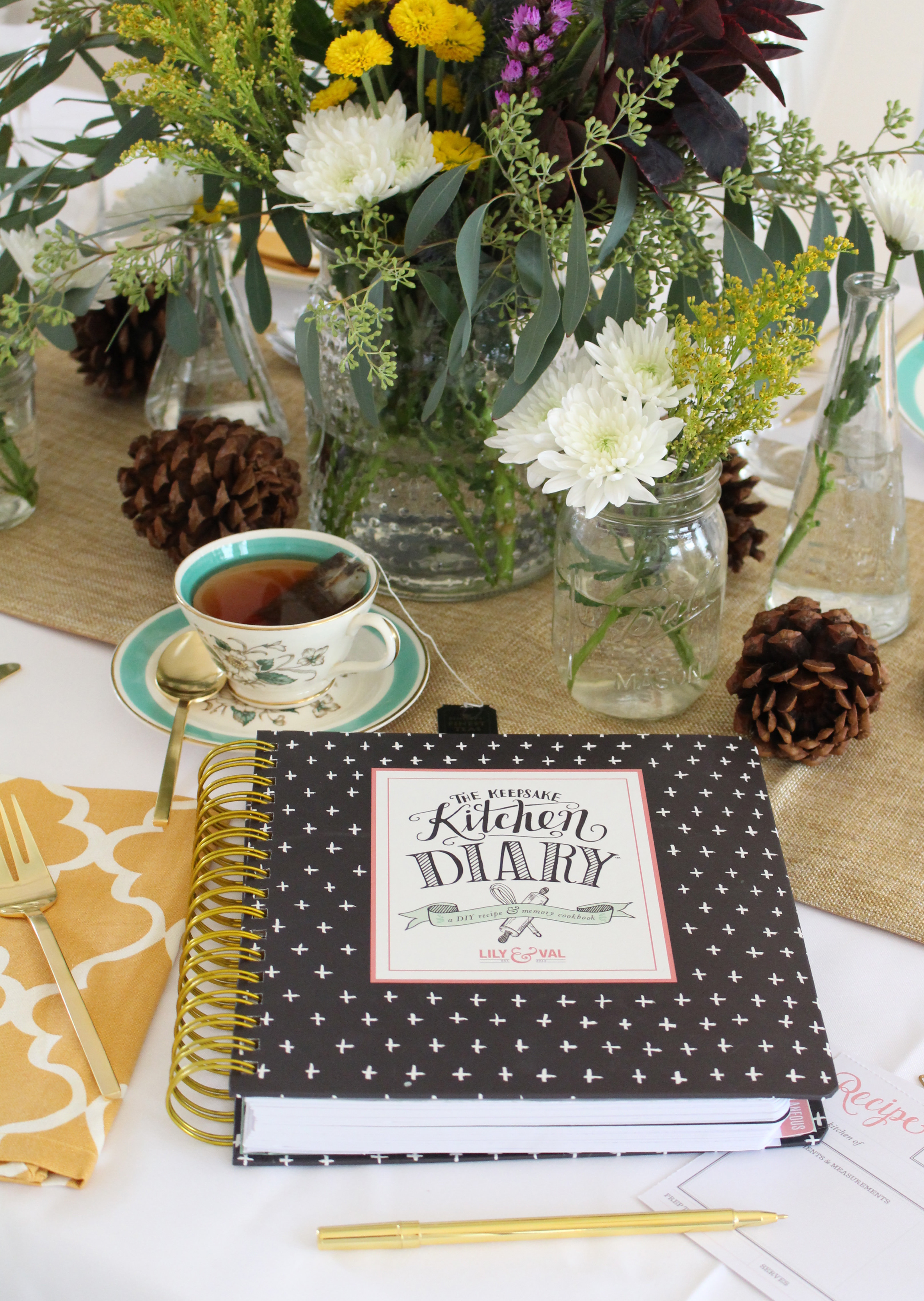 Thanksgiving is the biggest food holiday and the perfect time to record precious recipes and memories in your Keepsake Kitchen Diary