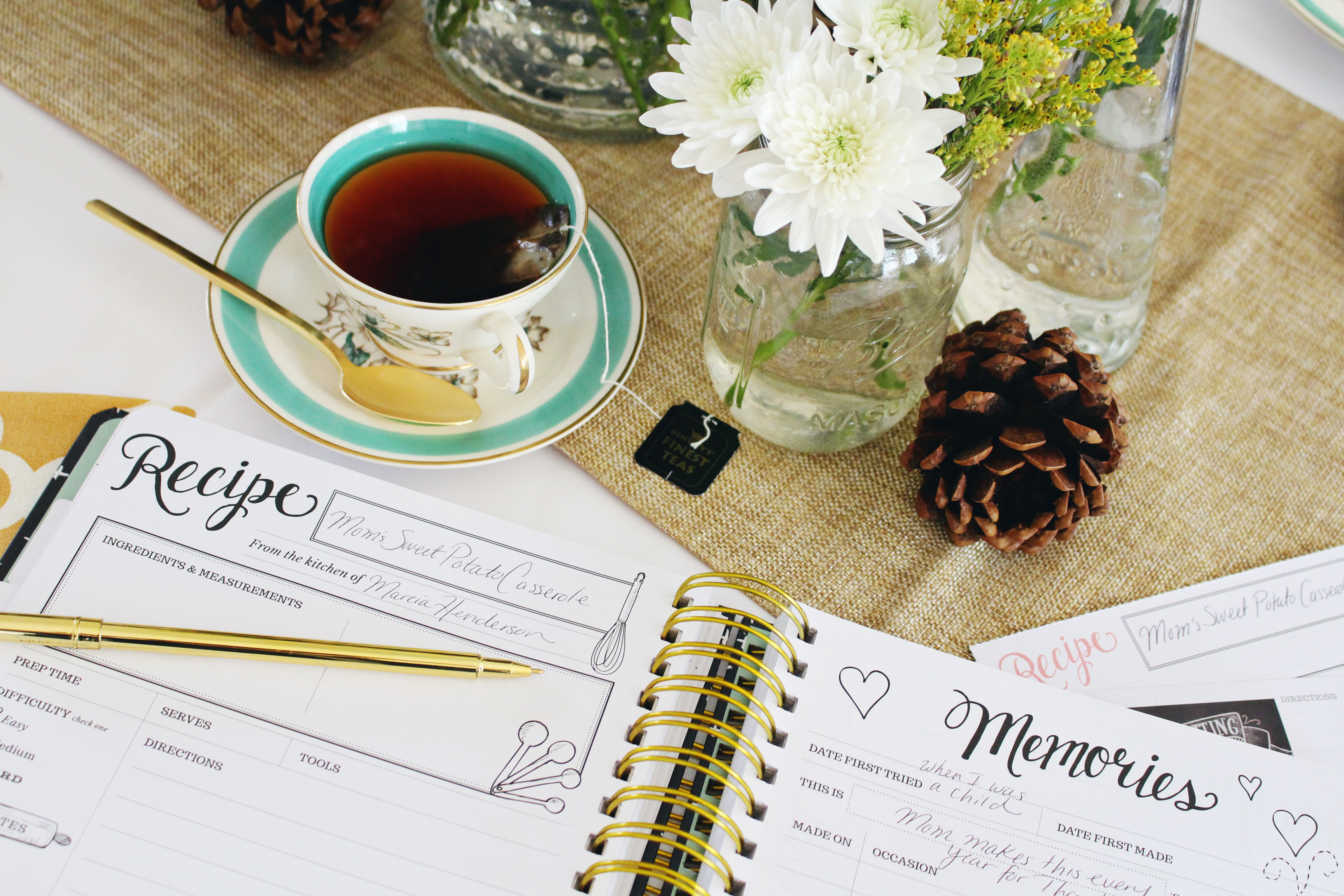 Start a new Thanksgiving tradition with the Keepsake Kitchen Diary by Lily & Val