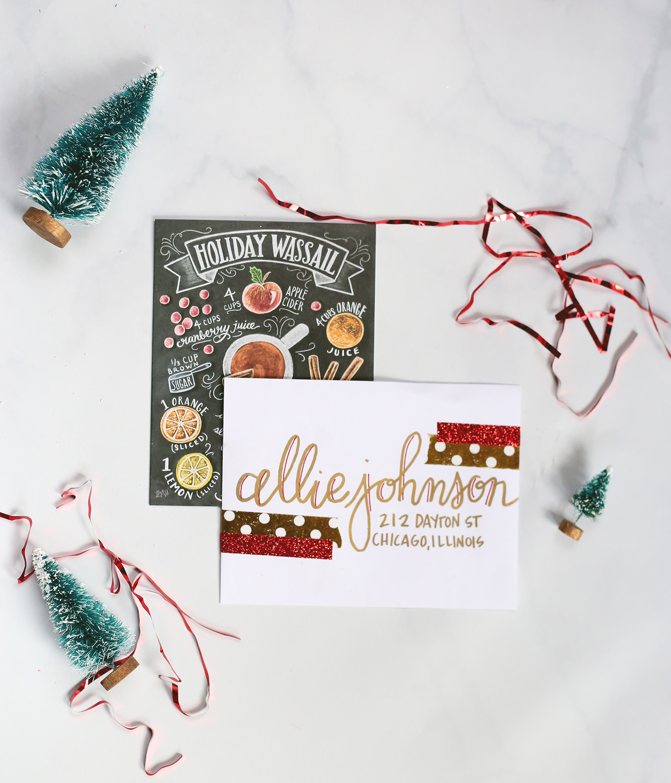 Christmas-inspired envelopes that are perfect for sending holiday wishes!