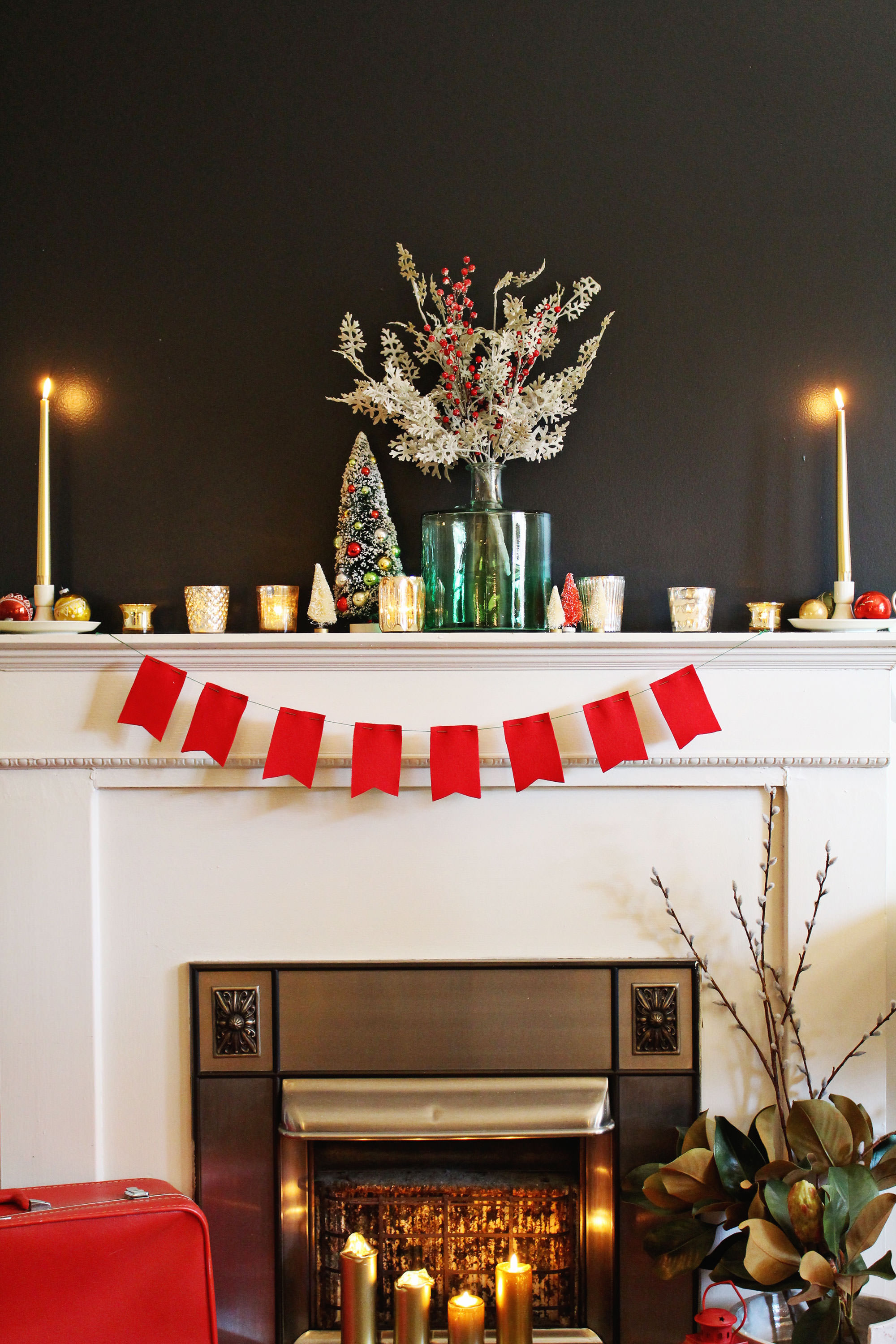Holiday mantel styling tips from a professional stylist on Lily and Val Living