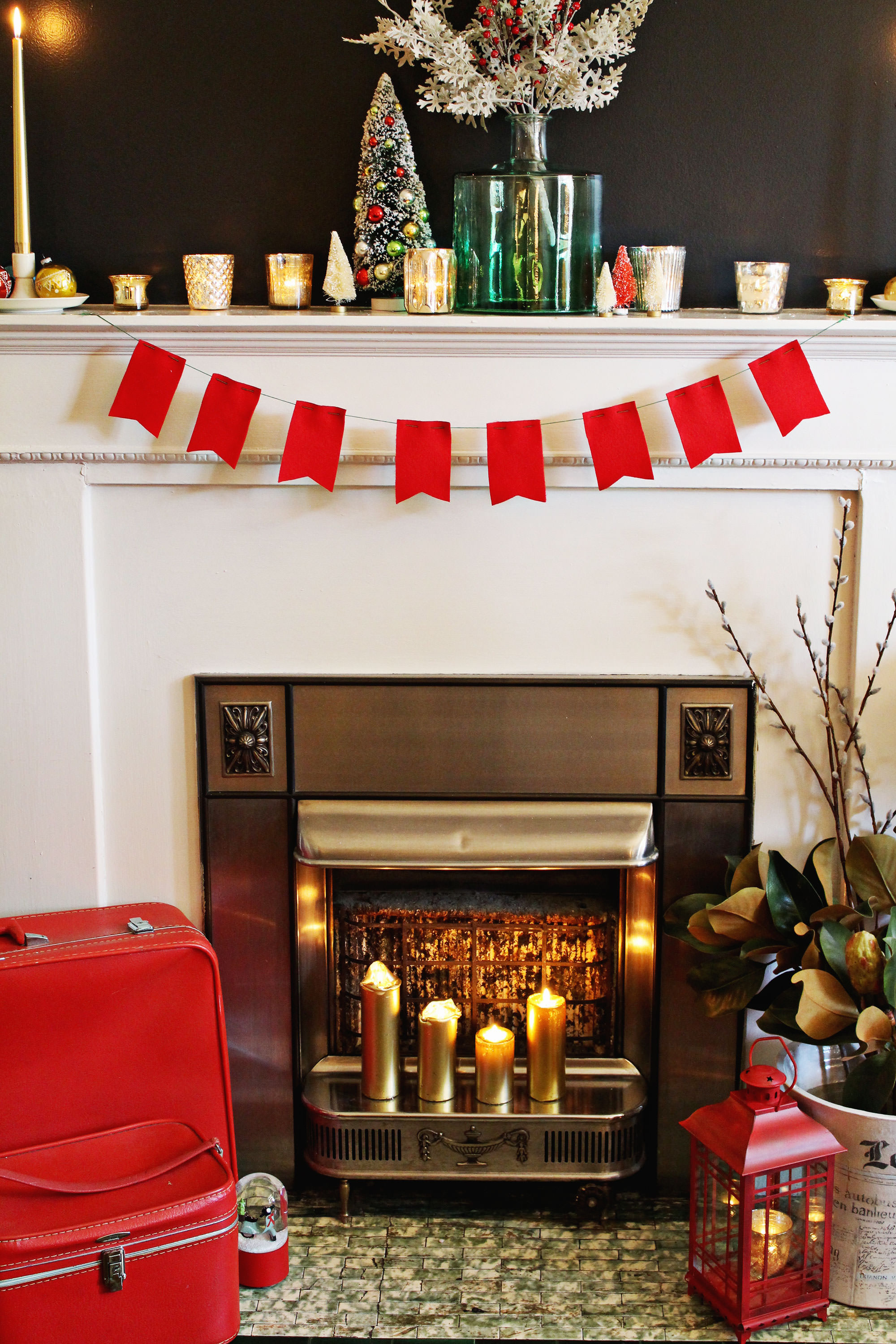 Holiday Mantel decorating inspiration