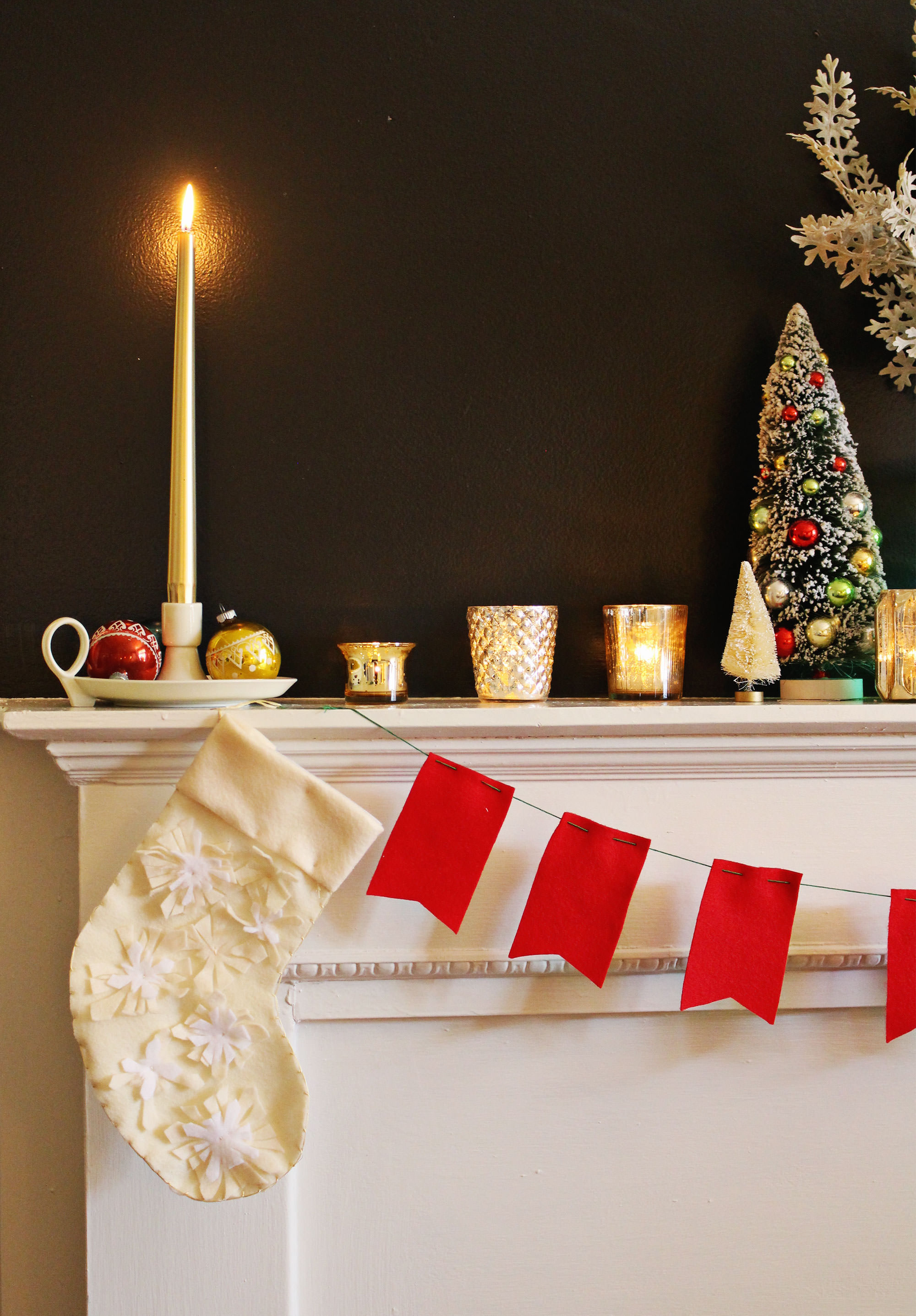 Holiday Mantel Decorating Ideas on Lily & Val Living