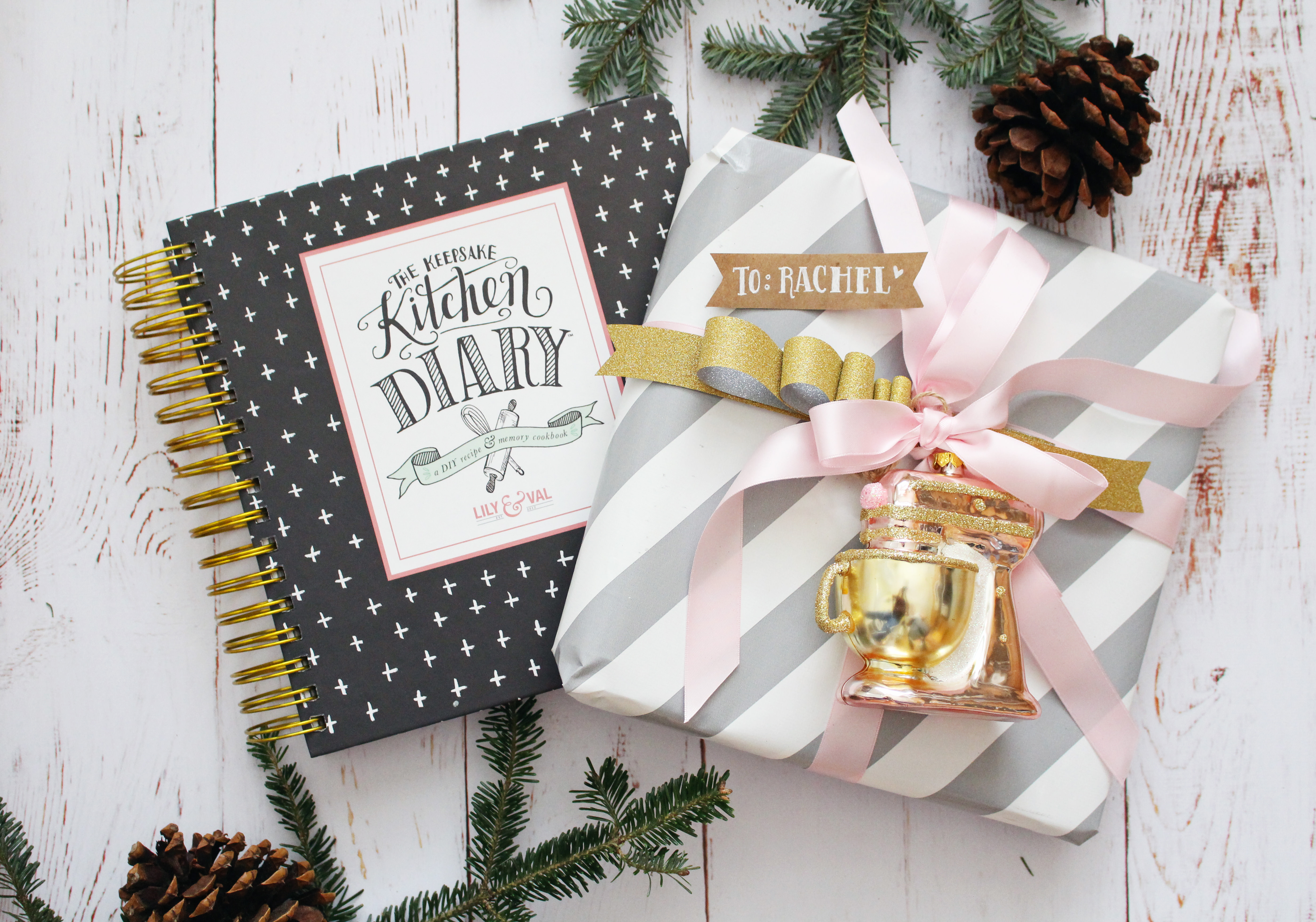 Pretty wrapping ideas for your Keepsake Kitchen Diary by Lily & Val