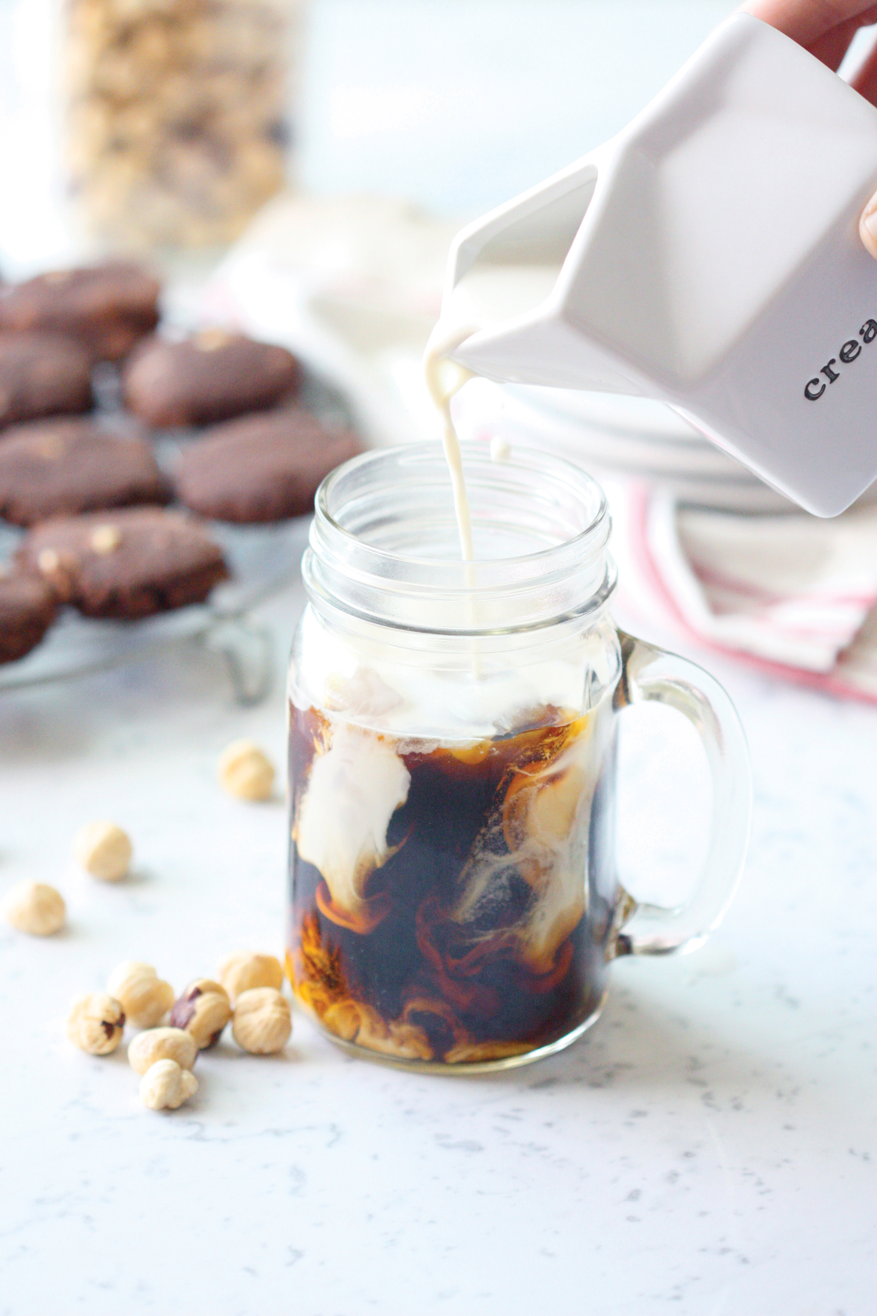Dairy-free hazelnut coffee creamer recipe for the holidays
