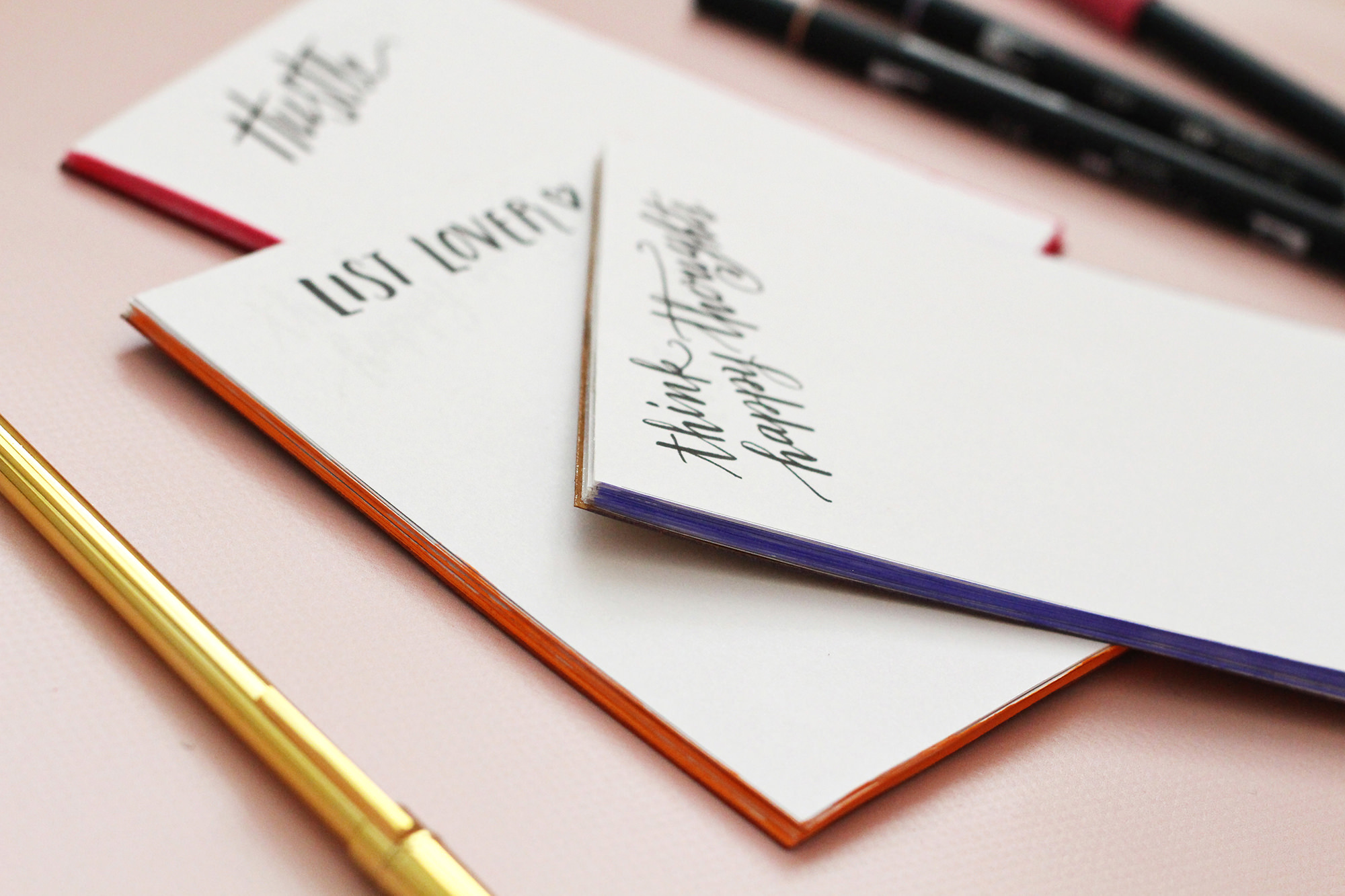 DIY notepads with a pop of color