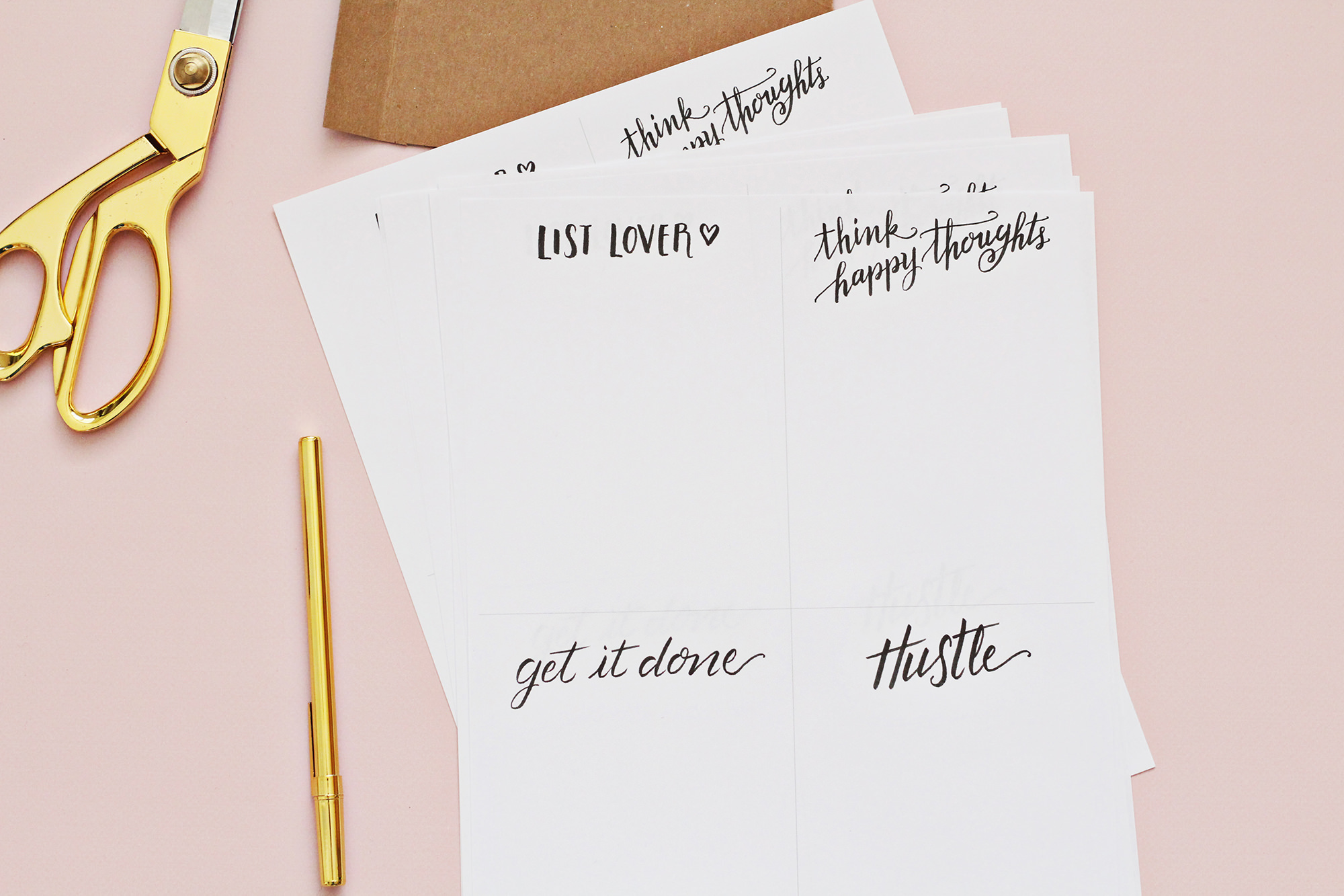 Use our free download to print pages and make a DIY notepad gift