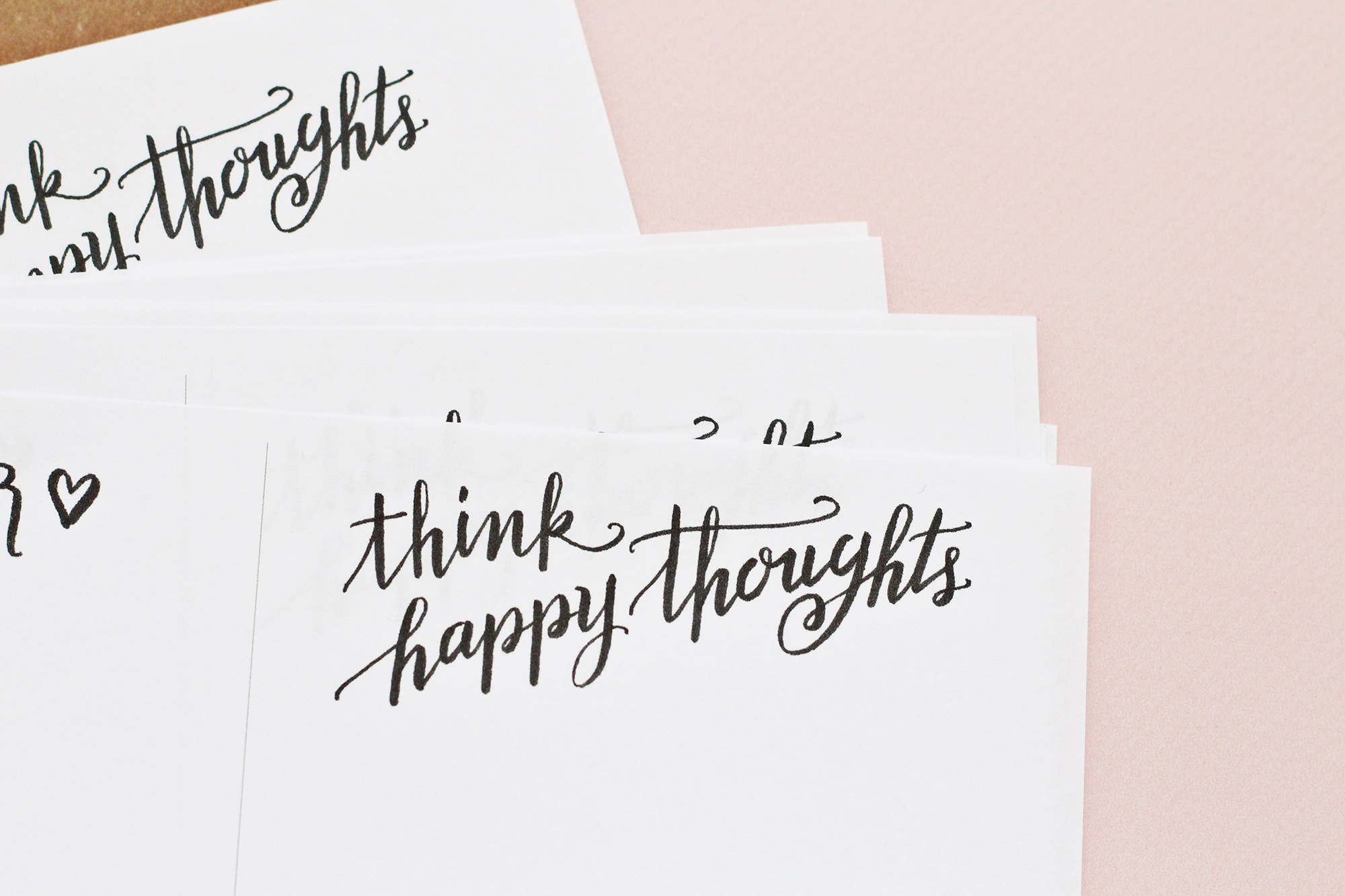 Brush lettering by Lily & Val for making handmade notepads