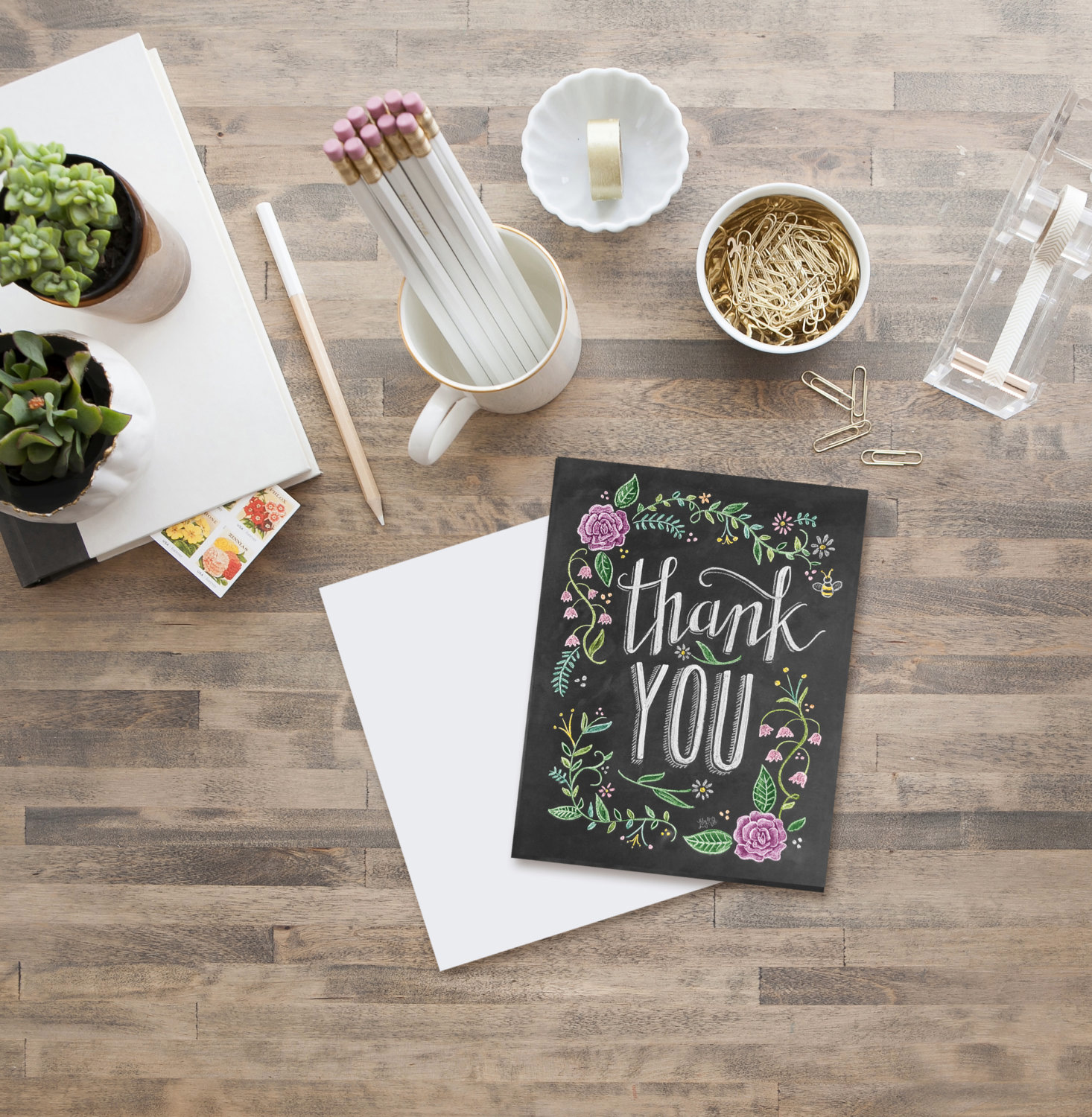 Floral Thank You Card by Lily & Val