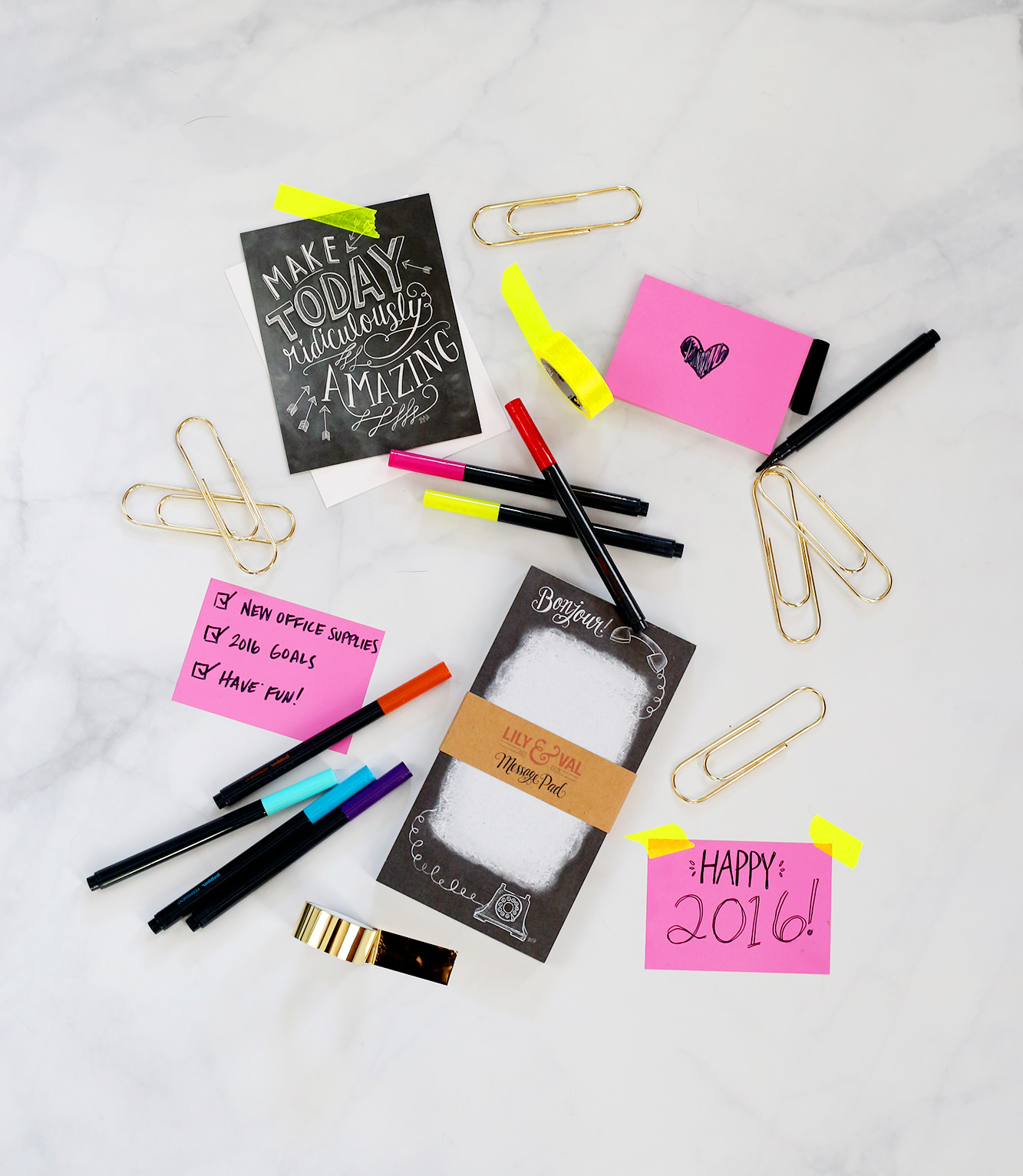 January's Happy Mail is all about the new year and the new office supplies to get you motivated for 2016! Enter to win!