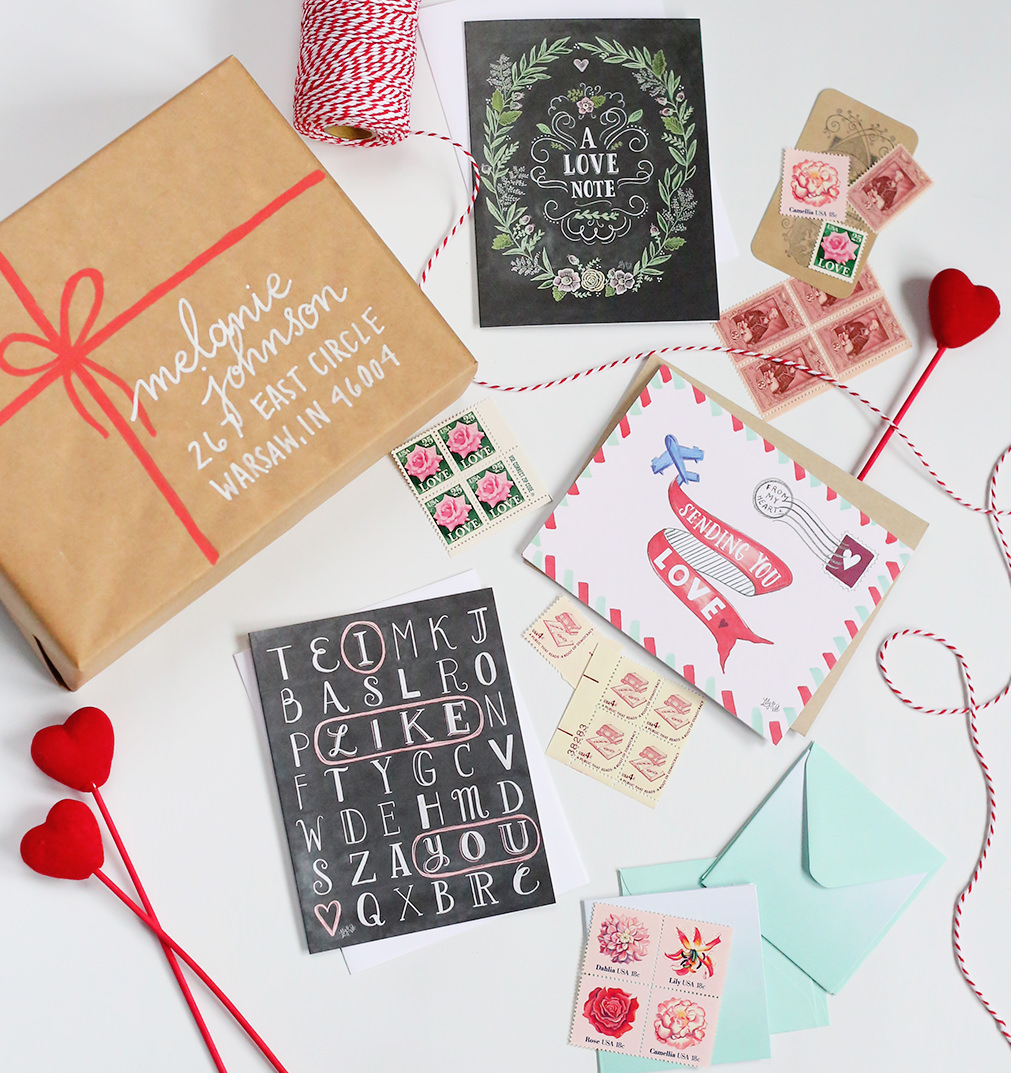 Send some love with our February Happy Mail idea! We're including all the things that make snail mail special! Enter to win this giveaway on Lily & Val Living!