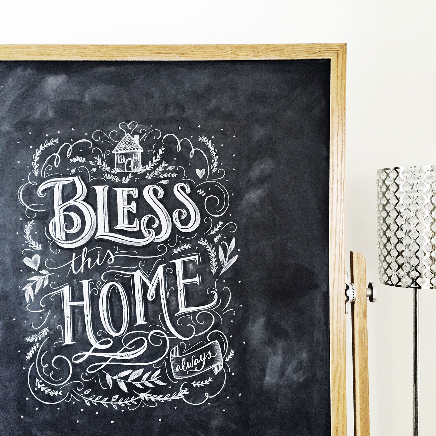 Bless This Home Chalkboard Art by Valerie McKeehan of Lily & Val