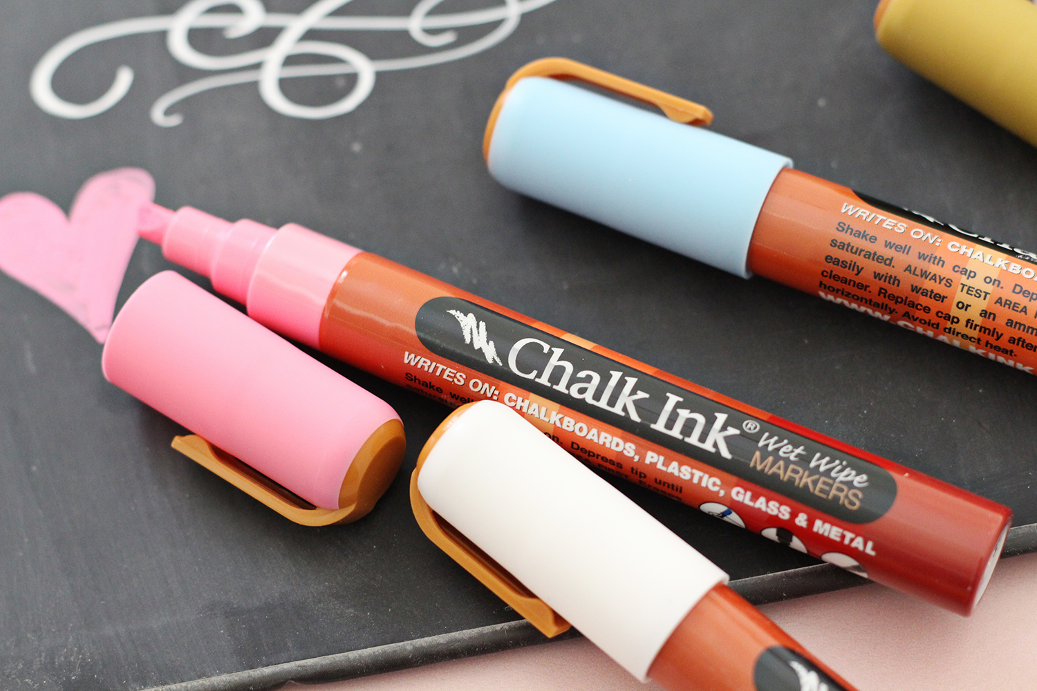 Chalk Ink Markers write on any non-porous surface