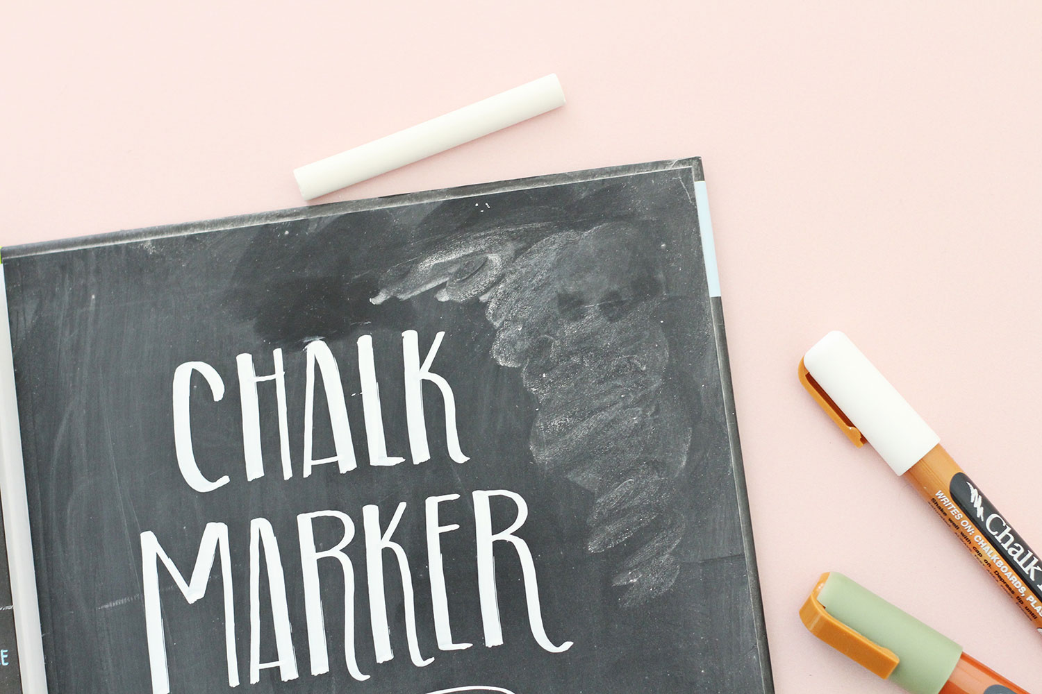 Combine chalk markers with dusty chalk for another efffect