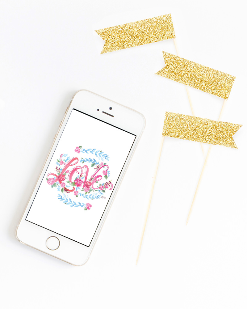Refresh your iPhone with this FREE February download! Lily & Val Living