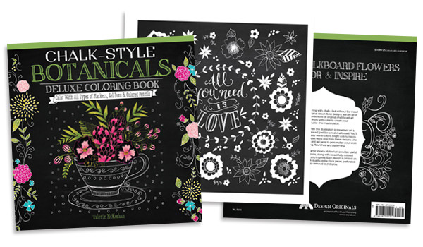 Love coloring? Try the new chalk-style coloring book by Valerie McKeehan! A whole new way to color!