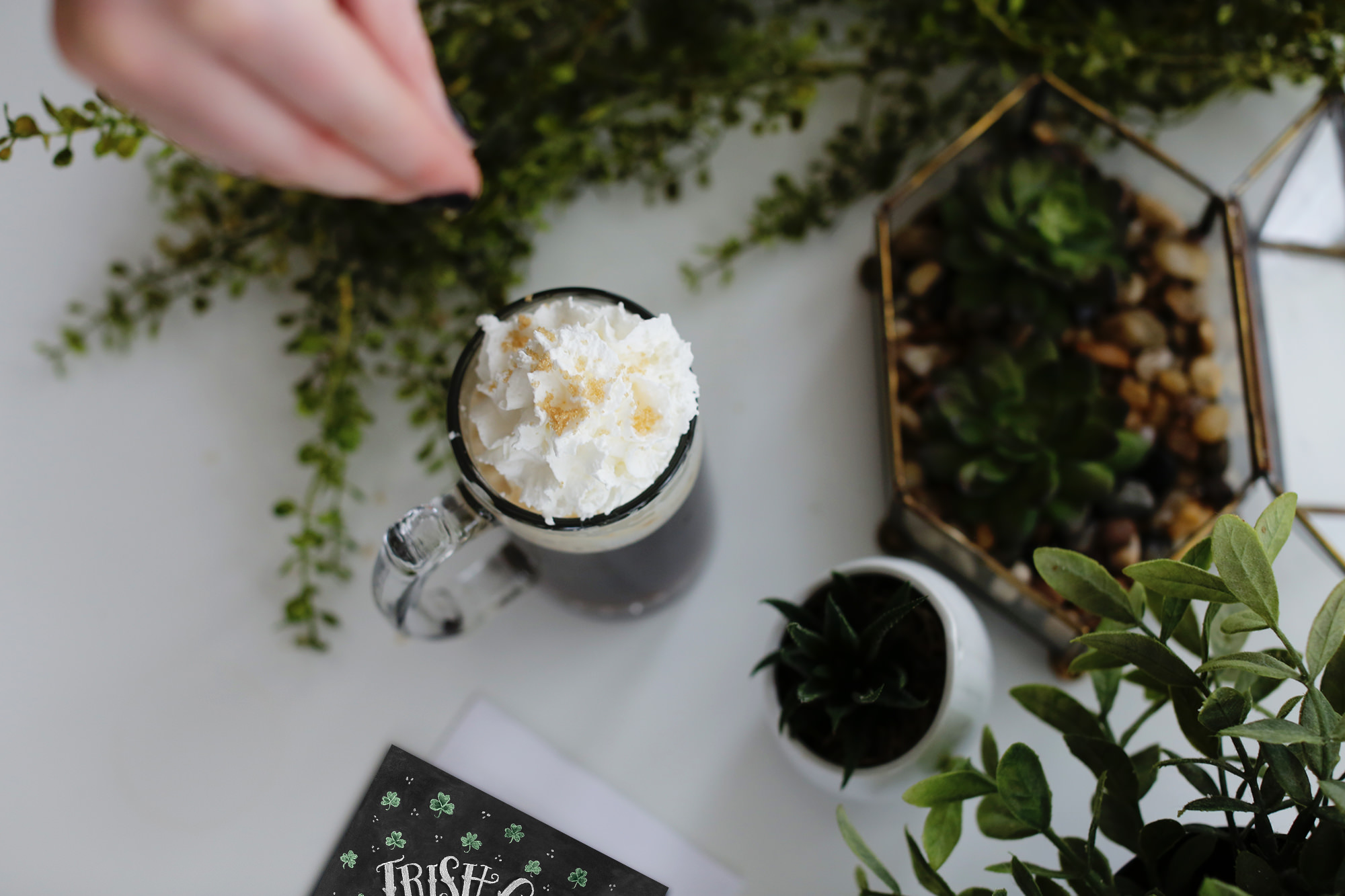 Irish Coffee is one of the best kept traditions of Ireland. Visit Lily & Val Living for the recipe!
