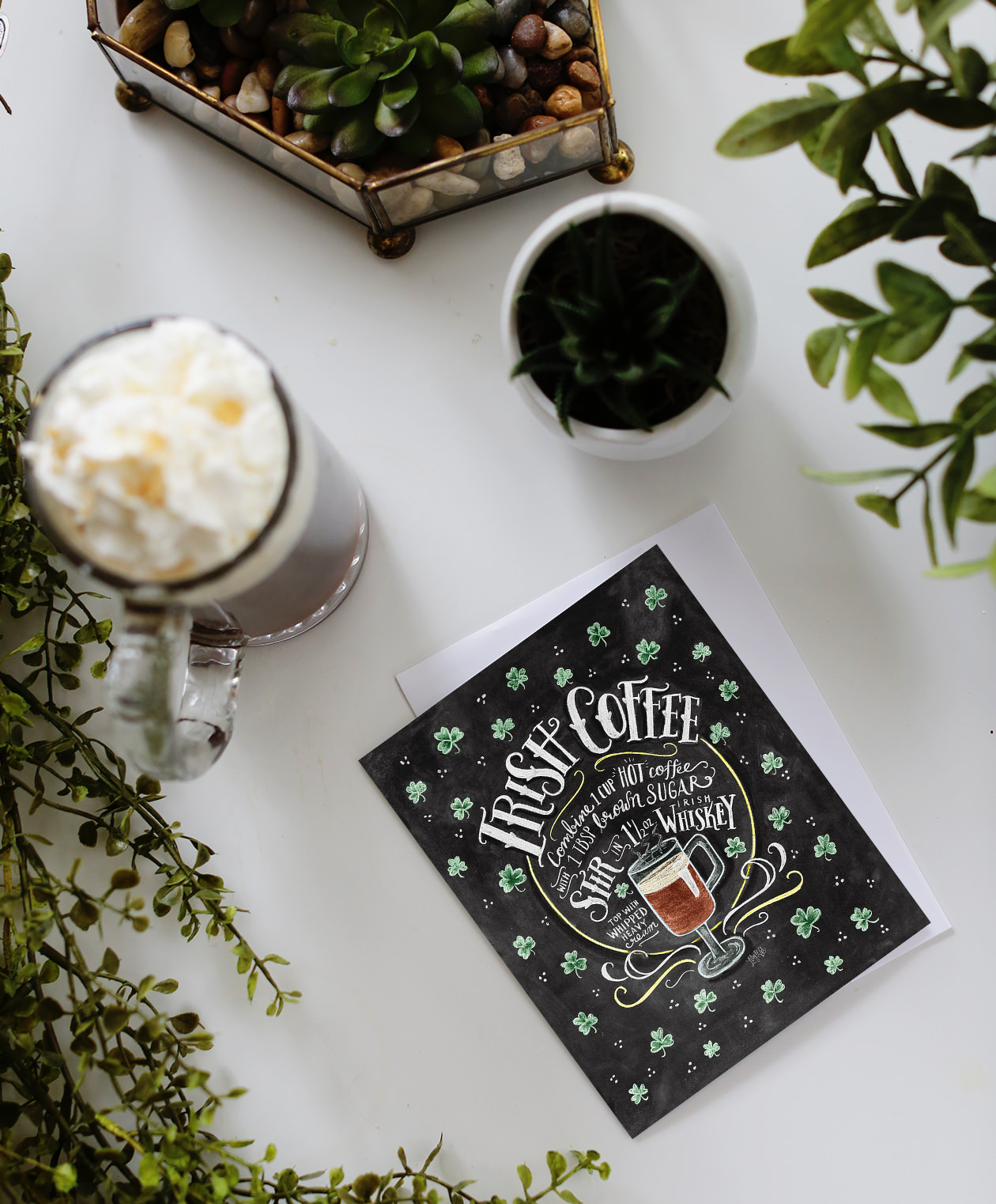 Our Irish Coffee Recipe card is great to send, and also to use! Watch the recipe come to life on Lily & Val Living!
