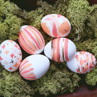 Brushstroke Easter Egg DIY