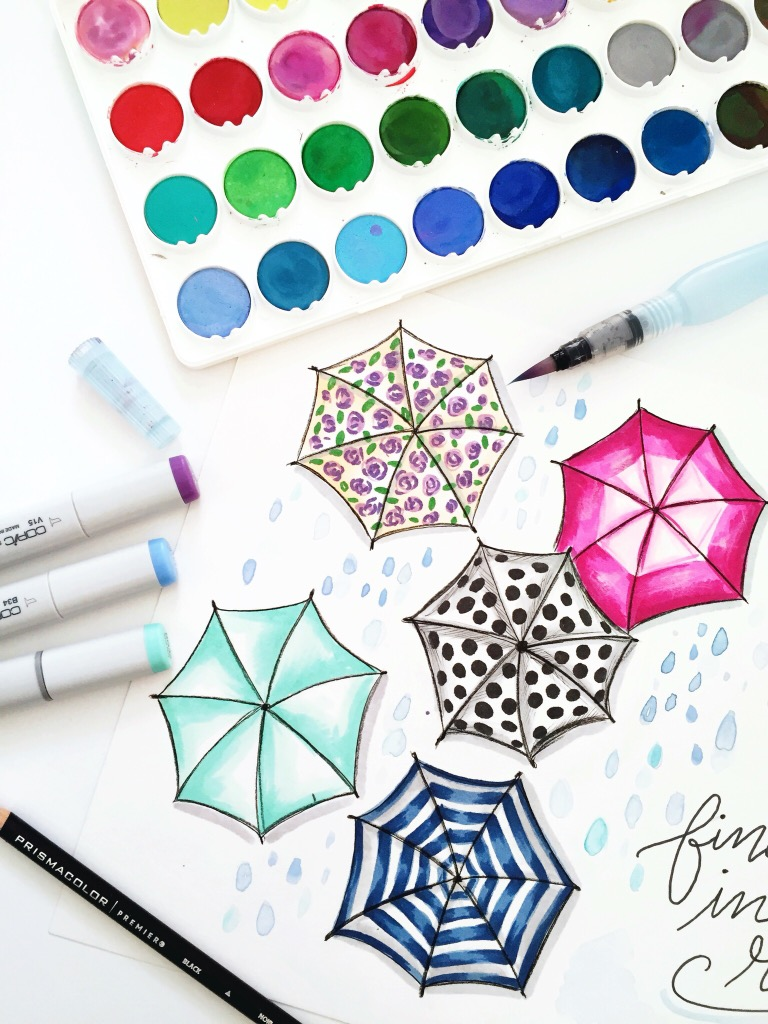 Download umbrella art for your computer desktop! Visit Lily & Val Living for April's Free Download!
