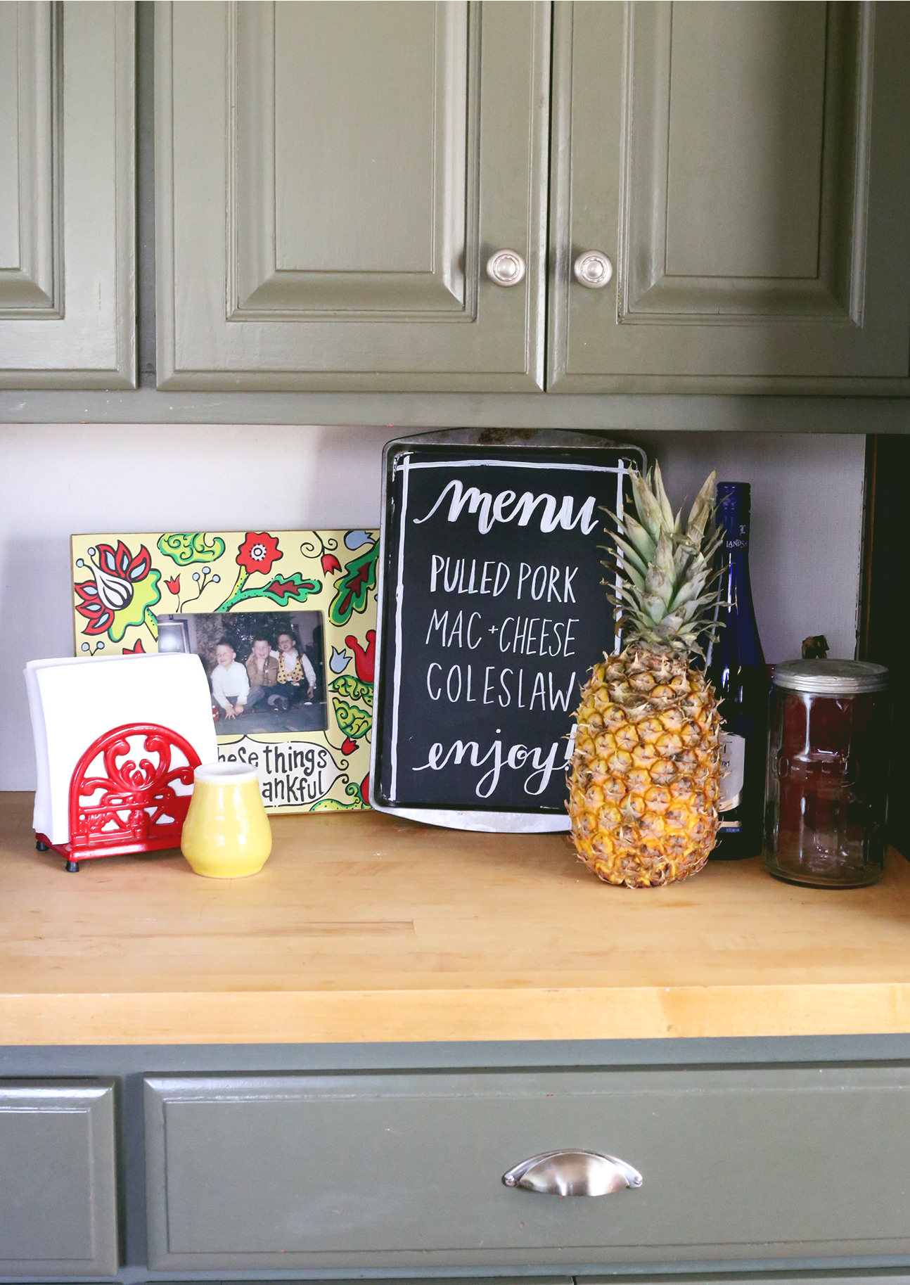 Upcycle an old rusty sheet pan into a fun chalkboard menu!