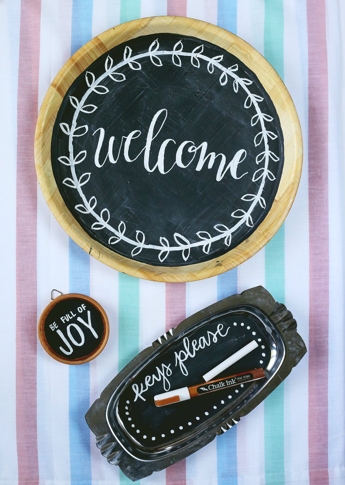 Transform thrift store finds into unique chalkboards for your home decor