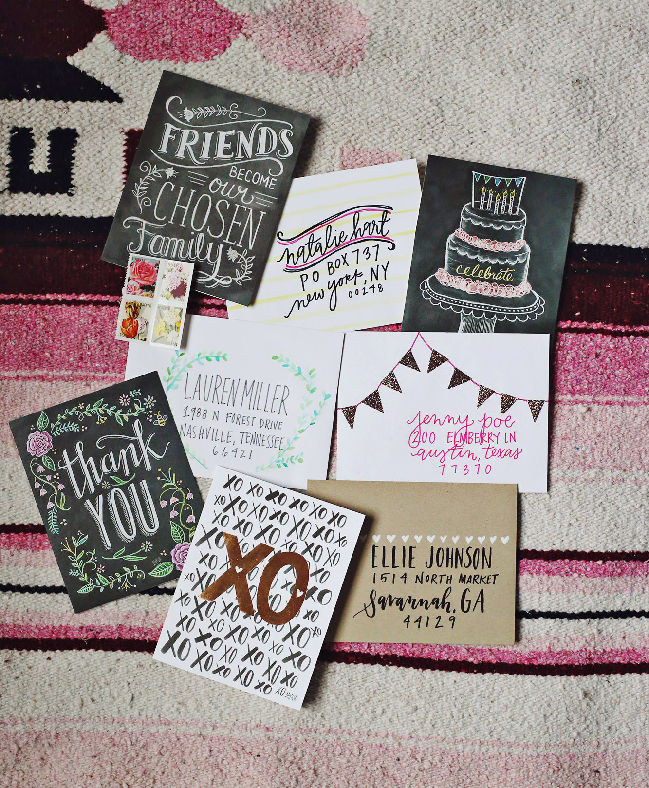 We're celebrating National Lettering Writing month on Lily & Val Living with 4 fun ideas for addressing envelopes
