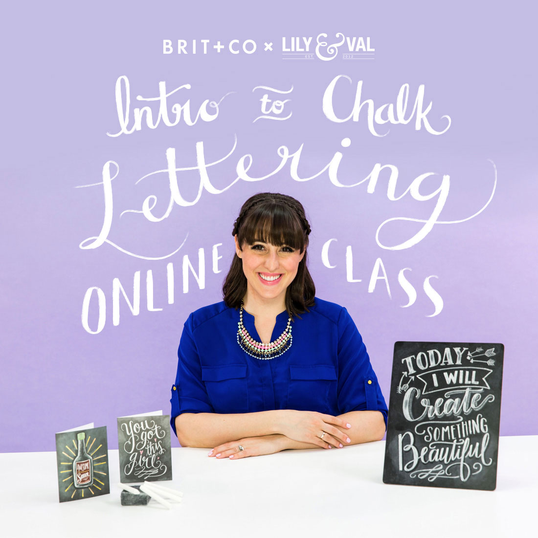 Valerie McKeehan's online chalk lettering class is now available through Brit+ Co