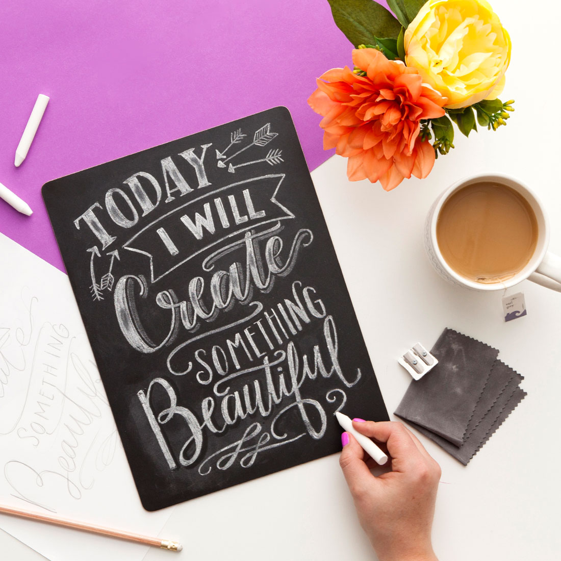 Online Chalk Lettering Class by Valerie McKeehan offered through Brit + Co