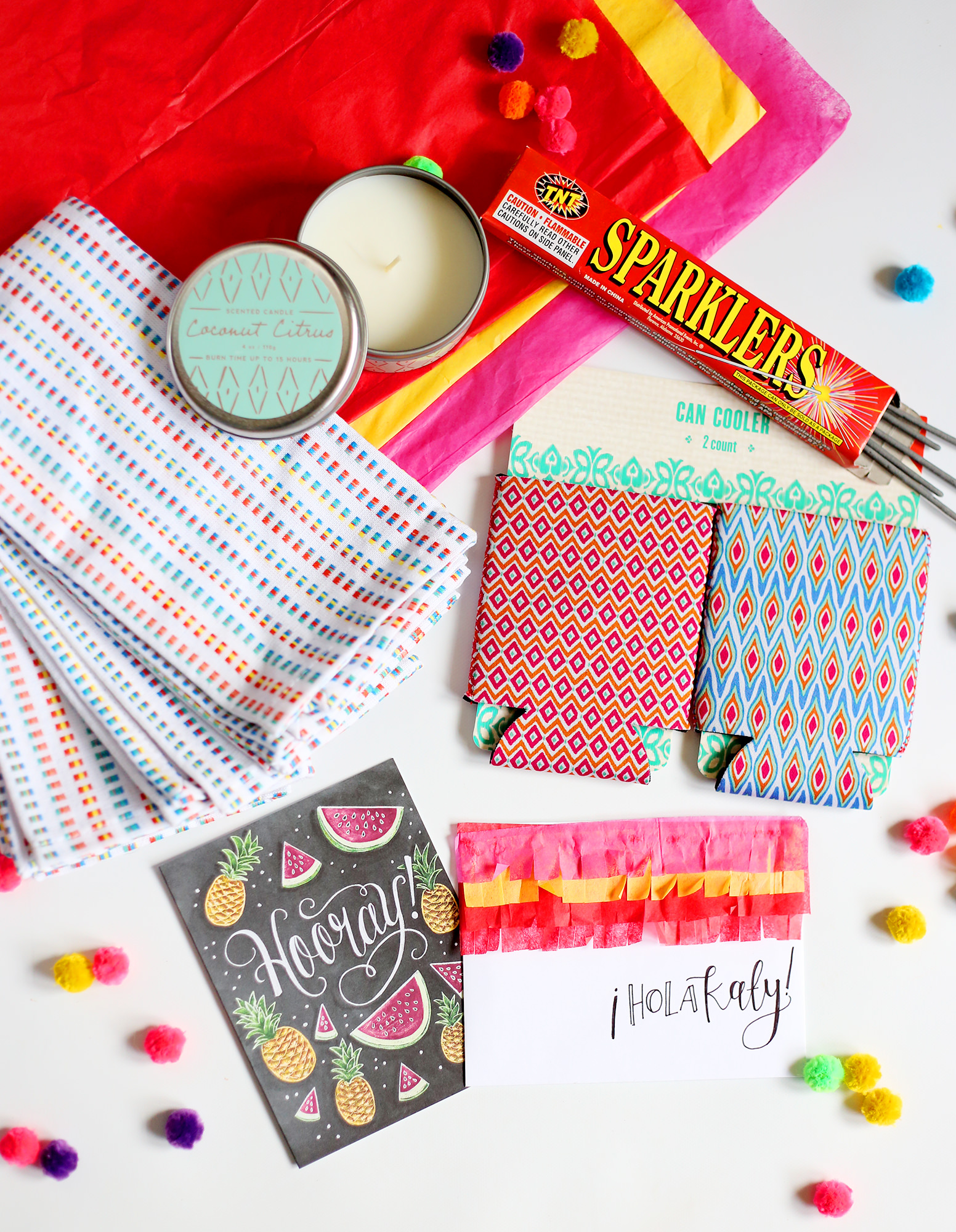 Send a gift that gets your friends ready for the summer!  Enter to win our May Happy Mail and receive everything you see here!  Only on Lily & Val Living!