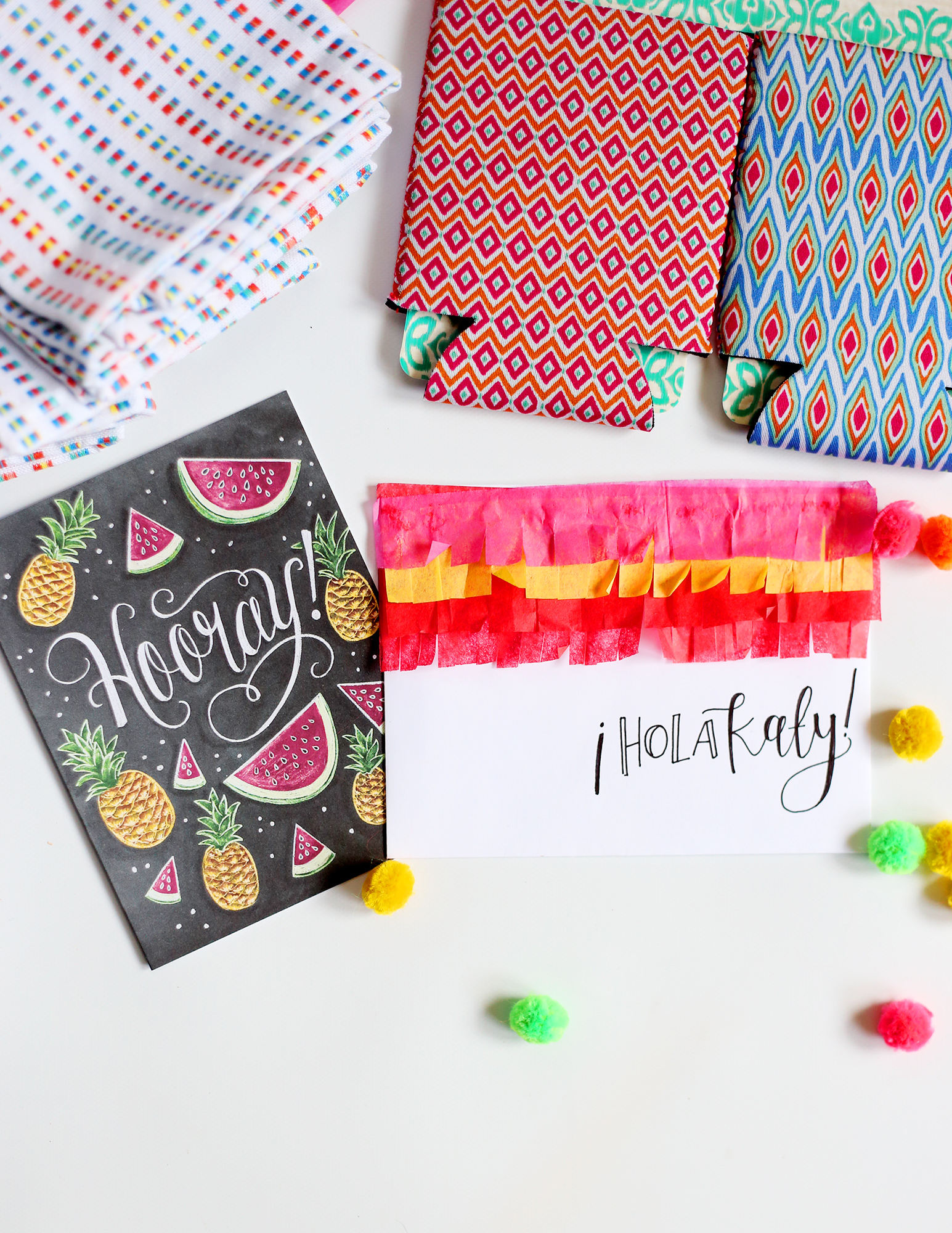 Keep the fiesta going on your snail mail!  Learn how to make your own pinata envelope on Lily & Val Living!