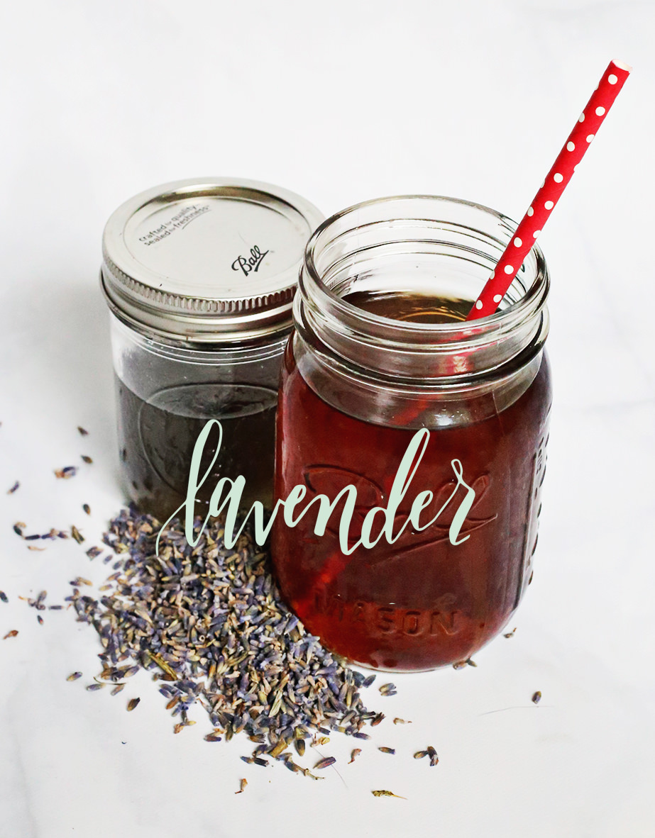 Stir up some lavender-flavored simple syrup to add flavor to your iced tea! On Lily & Val Living